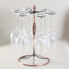 Nordic Style Hanging Wine Glass Rack Upside Down Goblet Rack Cup Holder Wrought Iron Metal WineGlass Holders Stand bass wine rack ou shi wrought iron wine frame the side table