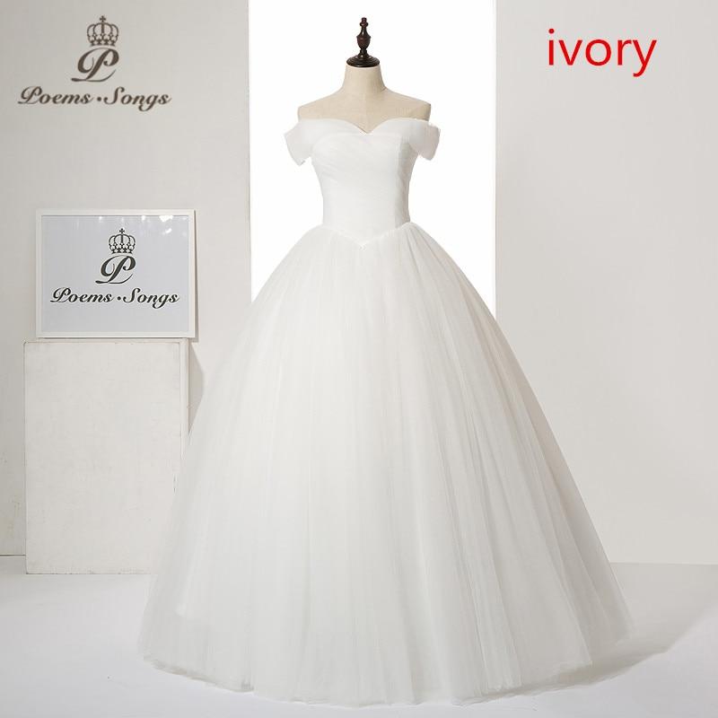 Poems Songs 2019 new style Sexy Boat neck style wedding dress Vestido de noiva robe de