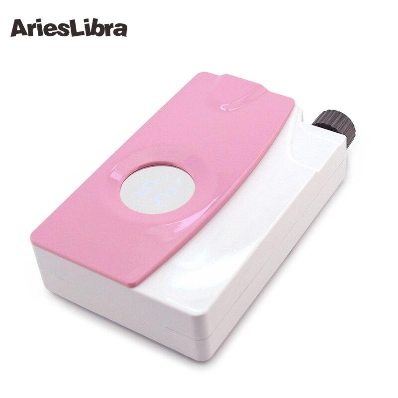 AriesLibra Machine à ongles électrique Rechargeable manucure perceuse ongles meulage manucure fichier Bit électrique polissage moulin Machine Kit