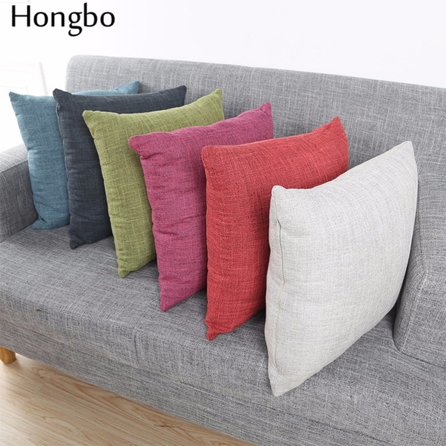soft decorative pillows. Hongbo 1 Pcs Sofa Cushion Covers Solid Color Linen Throw Pillows Cases  45X45cm Soft Decorative Aliexpress com Buy