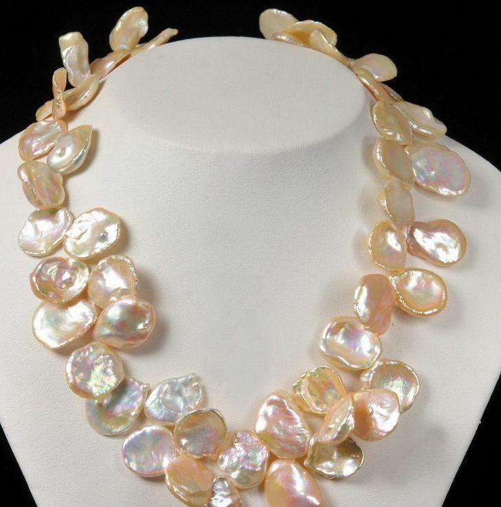 new design natural south sea gold pink pearl necklace 18inch 14knew design natural south sea gold pink pearl necklace 18inch 14k