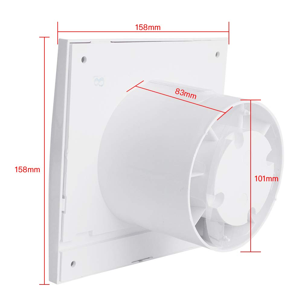 4 inch Home Ventilation Fan Bathroom Exhaust Fan Ceiling, Window and Wall Mount Fan, Built in 4W LED Light with Led Driver-in Exhaust Fans from Home Appliances    2