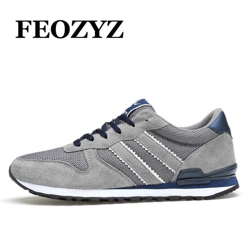 FEOZYZ Brand Retro Running Shoes For Men Suede Sport Shoes Men Sneakers Hard-Wearing Jogging Shoes Zapatillas Deportivas Hombre