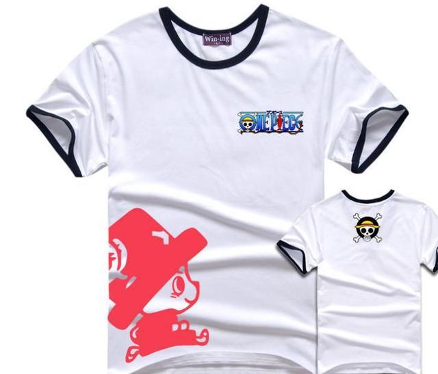 Anime One Piece Tony Chopper Cartoon T-shirts Décontracté en Coton Sport Tee Shirt Tops