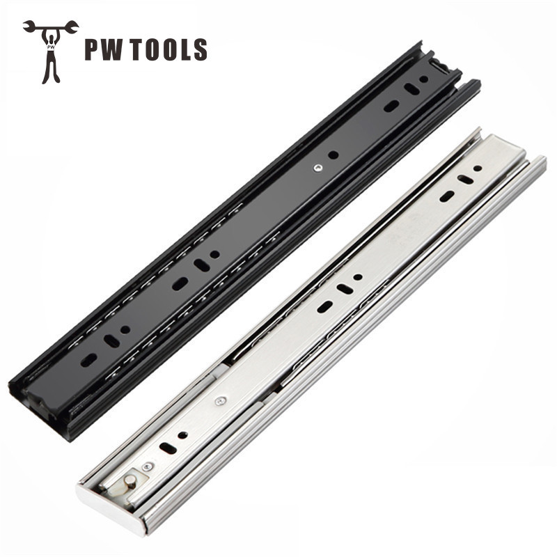 цена на Free Shipping Drawer Track, Drawer Slide, Three Rail Drawer, Guide Rail, Slide Rail, Furniture Hardware Fittings, Slipway