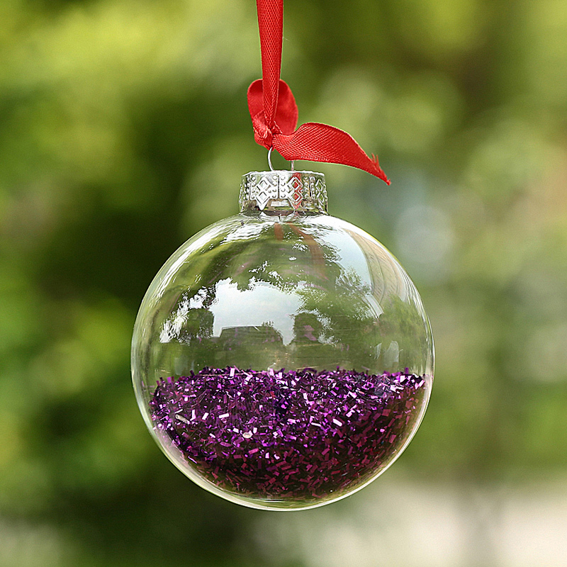 Decorating Glass Ball Ornaments Captivating Dia6Cm Clear Glass Balls Christmas Ornaments Decoration With Inspiration