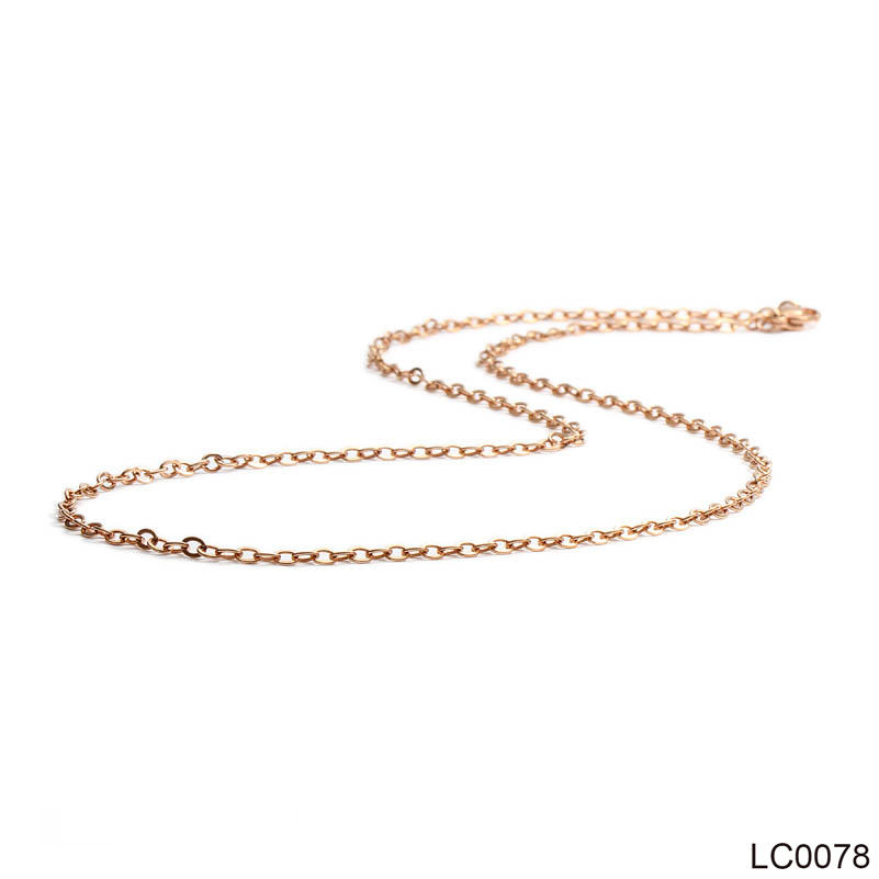 2.5mm Rose Gold Silver Gold Color Stainless Steel Necklace for Women Girl Female Necklace 45-60cm Fashion Jewelry 40cm,45cm,50cm
