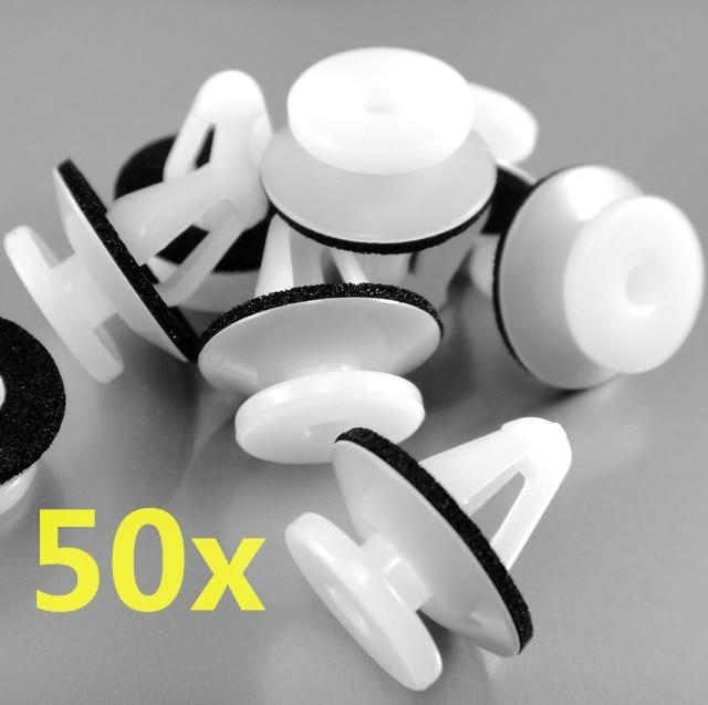 50 Pcs Rivet Fastener Side Garnish & Moulding Trim Clips MB696120 Case For Eclipse 1994-On