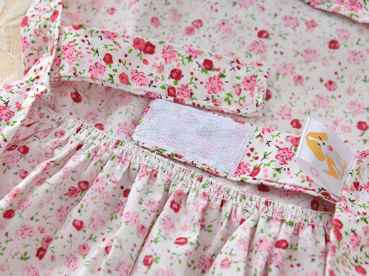 Cute Dog Dress Summer Soft Cotton Printing Bow Pet Puppy Clothes 8