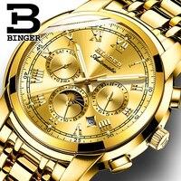 Suíça relógio mecânico automático masculino binger relógios de luxo da marca masculina relógio de safira à prova dwaterproof água relogio masculino B1178 7|masculino|masculinos relogios|masculino watch -