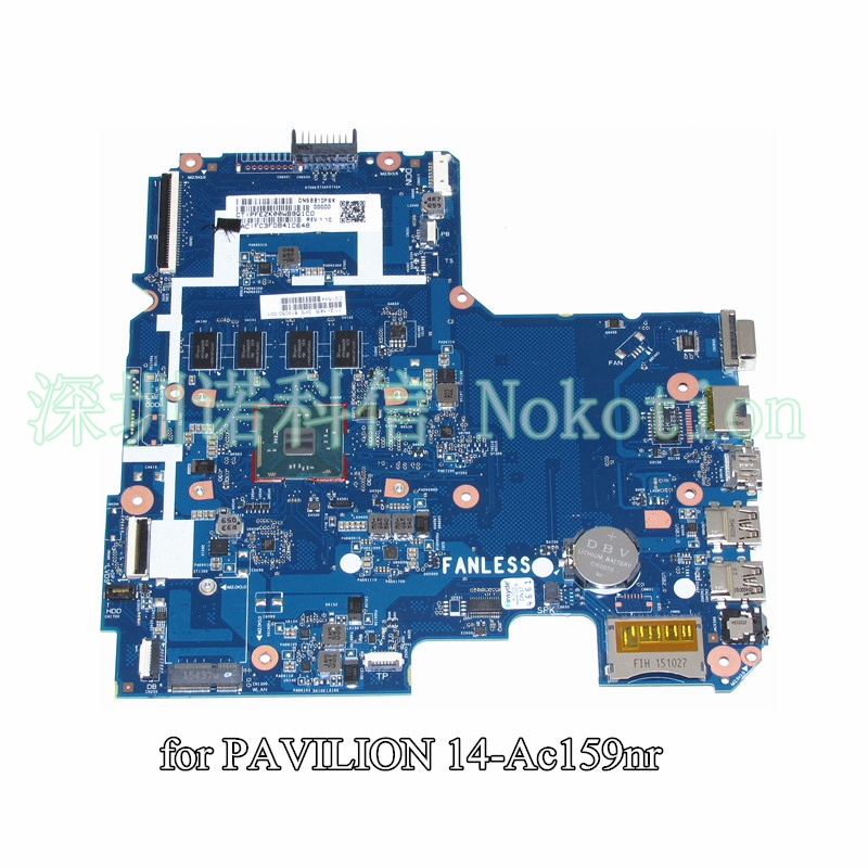 NOKOTION 814050-001 for HP Pavilion 14 14-AC159NR laptop motherboard SR29H N3050 CPU 4GB memory SKITTL10-6050A2730201-MB-A01 цены