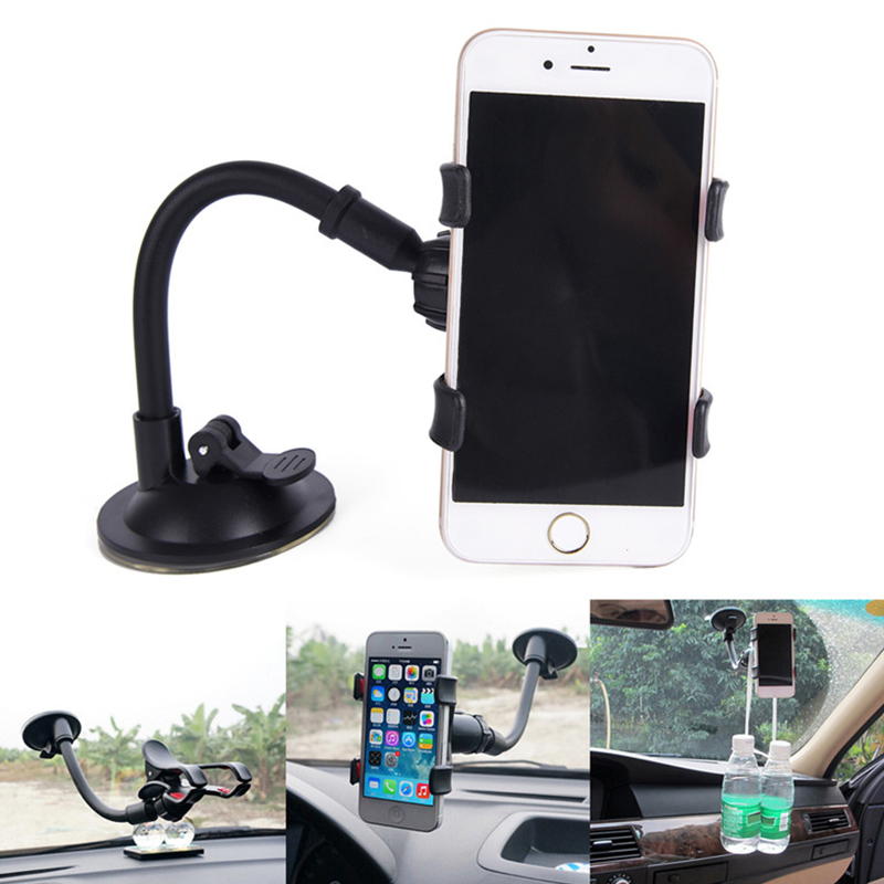 Mobile Phone Holders & Stands Brave 1pcs Universal Car Phone Holder 360 Degree Flexible Dashboard Windshield Gps Mount Desk Table Cell Mobile Phone Holder Stand Cellphones & Telecommunications
