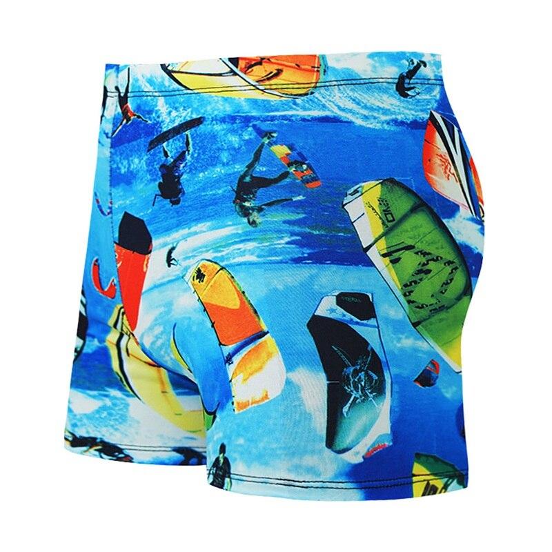 Swimming Trunks Men Printed Drawstring Short Pants Casual Style Beach Swimwear Swim Shorts Swimsuit Swimwear Men\'s Sportswear(China)
