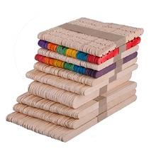 Разные размеры из натурального дерева и красочные деревянные палочки для мороженого для детей DIY ручной работы художественные закладки домашний Декор 50 шт./лот