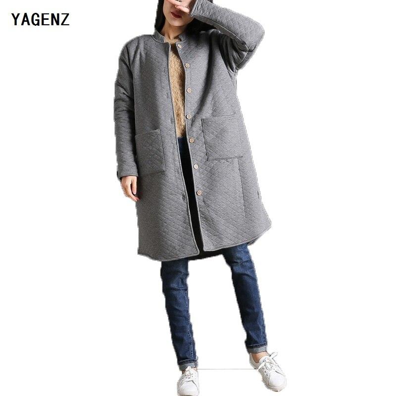 YAGENZ 2017 New winter models leisure art plus cashmere long paragraph cotton solid color Long section