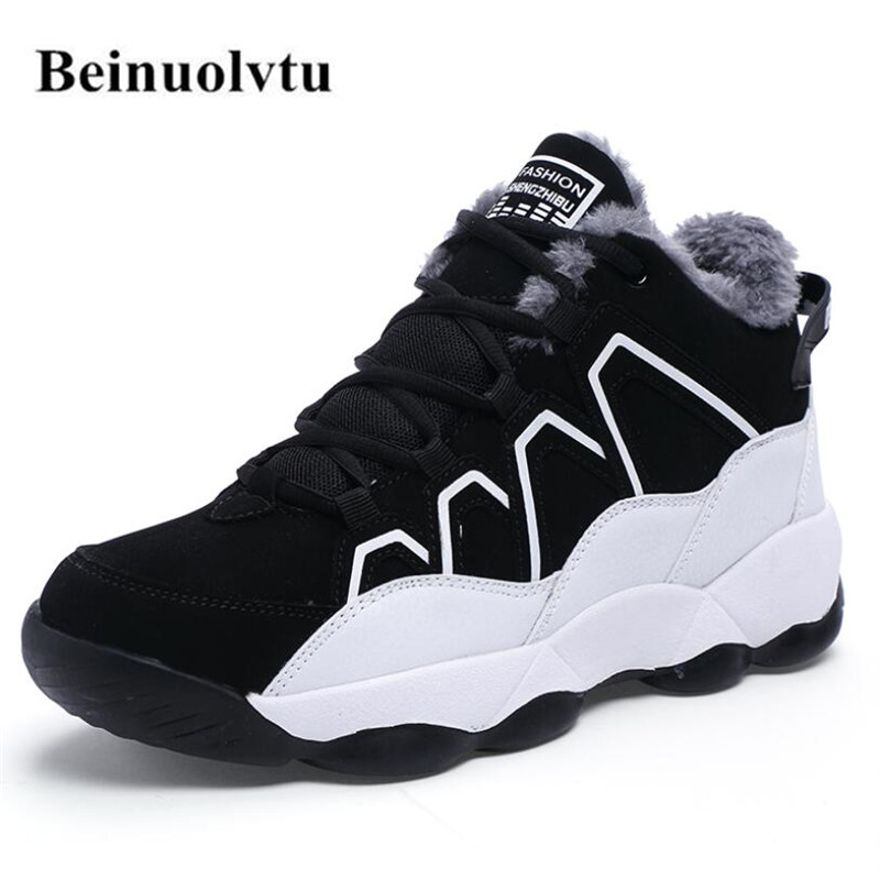 New Winter Men Sneakers for men Running Shoes Platform Sports Sneakers Warm Shoes