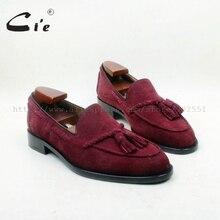 Cie Мужская обувь из 100% натуральной кожи, с круглым носком, на клейкой подошве, ручной работы, из замши, с кисточками, No.loafer 160