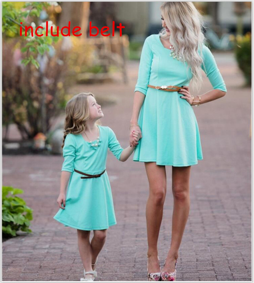 mother and daughter clothes fashion blue mom and daughter