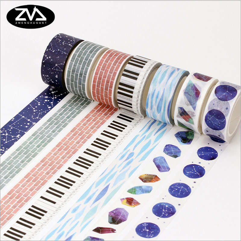 15/20mm*8m Japan Hand account washi tape DIY decoration scrapbooking planner masking tape adhesive tape label sticker stationery 1 5cm 8m colorful flag washi tape diy decoration scrapbooking planner masking tape adhesive tape label sticker stationery