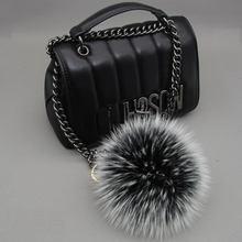 12cm Luxury Fluffy Real Fox Fur Ball PomPom 14 Colors Genuin