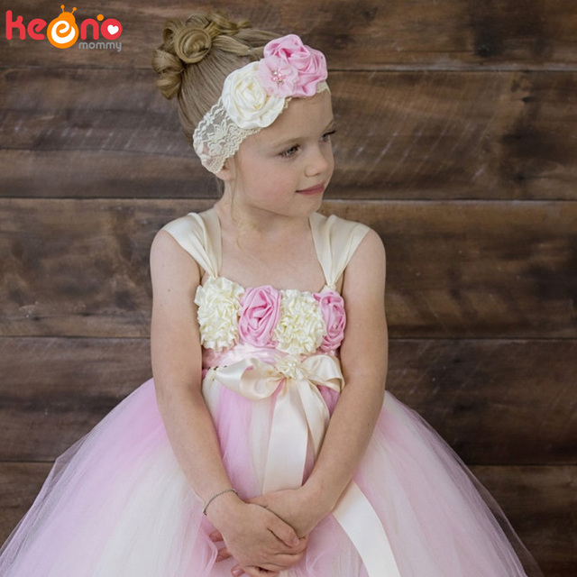 125fc14dcee Fashion Flower Girls Tutu Dress Princess Children Baby Tulle Party Dresses  Boutique Kids Girls Pageant Wedding Ball Gown Dress