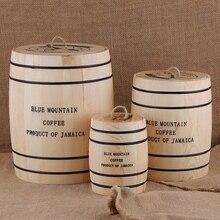Chicchi di caffè 0ak Barile di Stoccaggio Ermetico Contenitore di Legno Per Chicchi di Caffè o Motivi Box Cucina