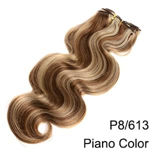 Doreen заколки для волос в полный набор головы 160 г 200 г искусственные волосы одинаковой направленности настоящие натуральные человеческие волосы для наращивания зажим для волос - Color: P8/613