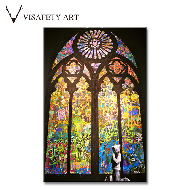 Banksy Art Pray In Church Living Room Wall Art Home Decorative Picture On  Canvas