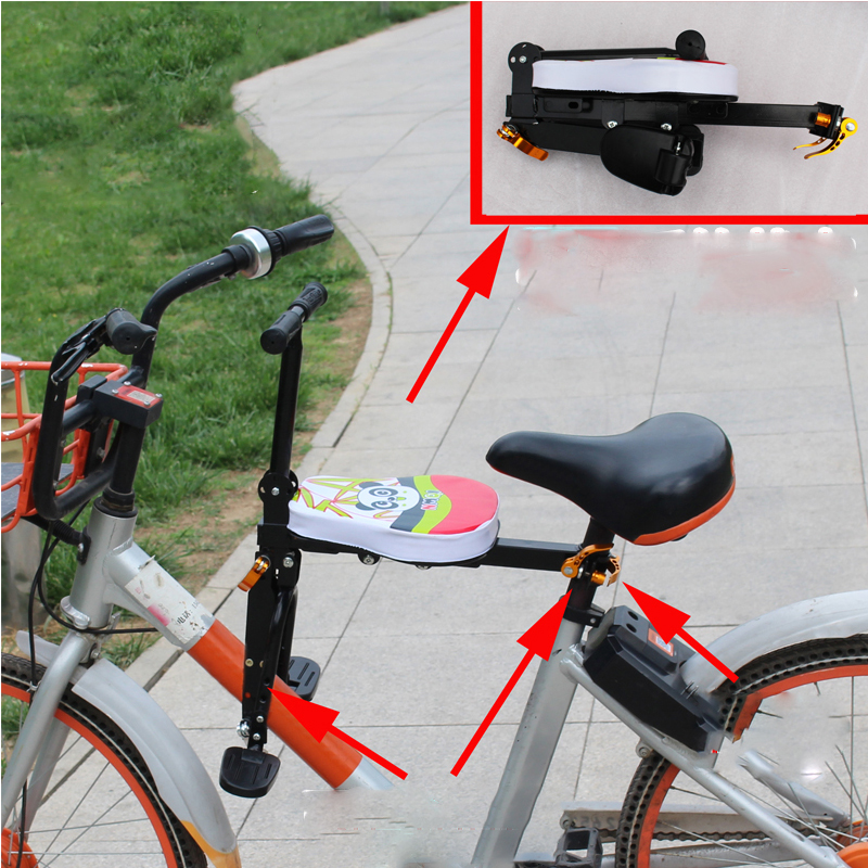 Children s Bicycle Seats For Road Front Mat Child Safety easy carrying and folding quick release