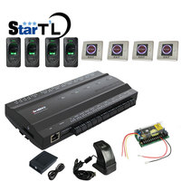 ZK inBIO460 Four Door Controller with Slave reader FR1200 Fingerprint reader Proximity Card Reader Kit Biometric Door Access