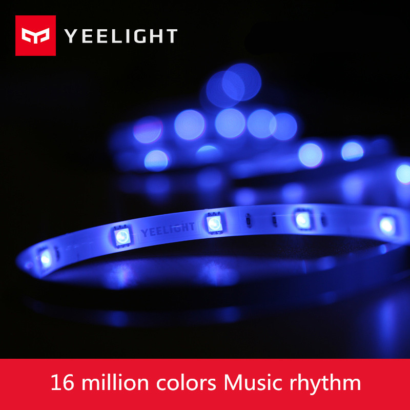 Xiaomi Yeelight RGB Strip Intelligent Light Band Smart Home Phone App Wifi Light Colorful Lamb LED 2M 16 Million 60 Leds original xiaomi yeelight led smart bulb colorful e27 9w 600 lumens mijia light xiaomi smart phone wifi remote control