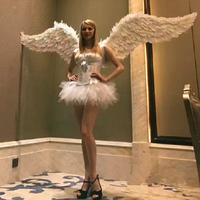 Adults real Feather Fairy Angel Wings Hen Night Party Event Supplies Fancy Dress Up Christmas cosplay props
