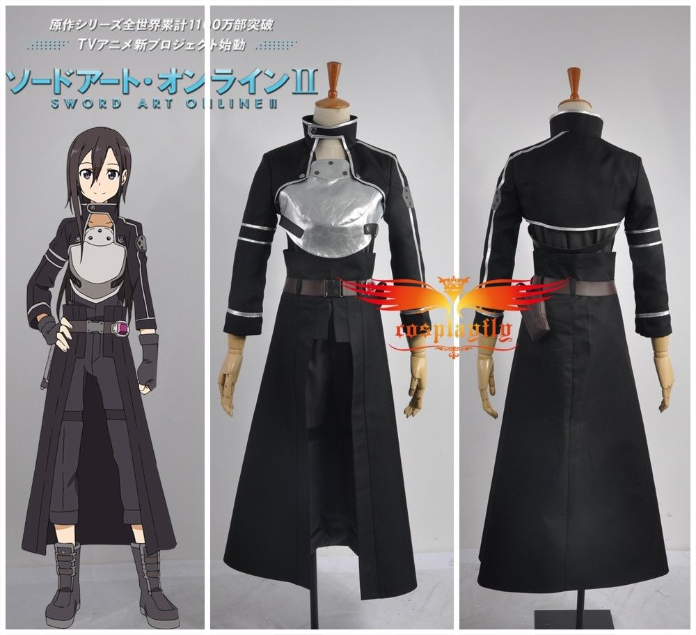 Sword Art Online Phantom Bullet Kazuto Kirito Kirigaya Cosplay Costume Shoe Boots Full set Outfit Gloves