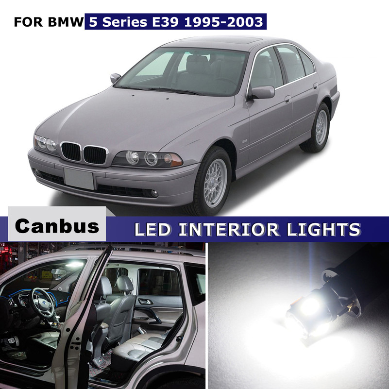17x For BMW 5 Series E39 1995 2003 Canbus Car LED Lights