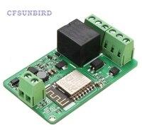 New Arrival 1Pcs Green ESP8266 10A 220V Network Relay WIFI Module Input DC 7V 30V Modules