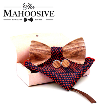 Zebra 3D Wooden Bow Ties For Men Quality Men's Wood Bowtie 3D Handmade Butterfly Wood Bow Tie Gravata Silm