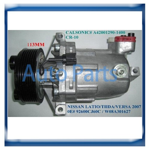 CR-10 CR10 авто ac компрессор для Nissan Tiida 1.8L 92600CJ60A 92600CJ70A 92600-CJ700