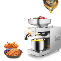220V/110V Household Oil Press Small Fully Automatic Peanut Sesame Walnut Olive Oil Press