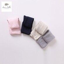 DB352 dave bella bébé coton laine pantalon en tissu infantile toddle boot cut filles pantalon