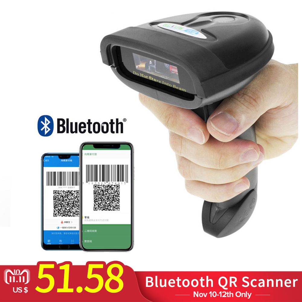 HW-L98 Handheld Wireless Barcode Scanner And HW-L28BT Bluetooth 1D/2D QR Bar Code Reader Support Android iOS iPad Windows free shipping mj 2877 pocket portable wireless 2d barcode scanner usb bluetooth v4 0 qr bar code reader for android ios windows