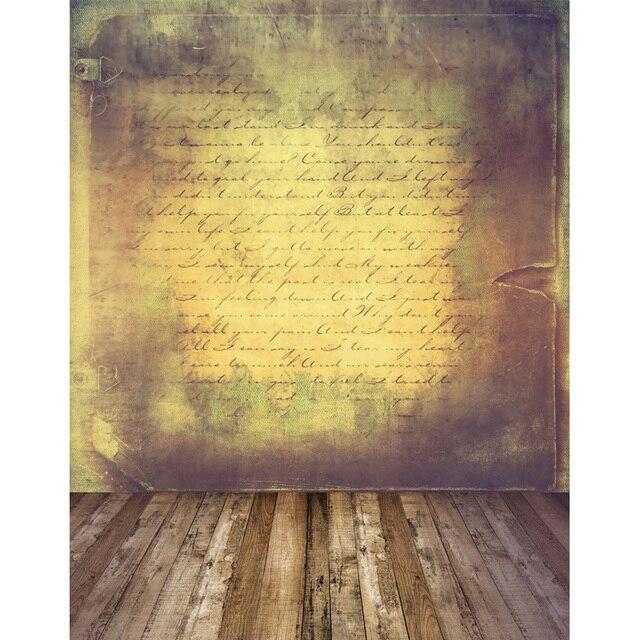 6x10ft Vinyl Brief Wand Holzboden Fotostudio Hintergründe Für Modell