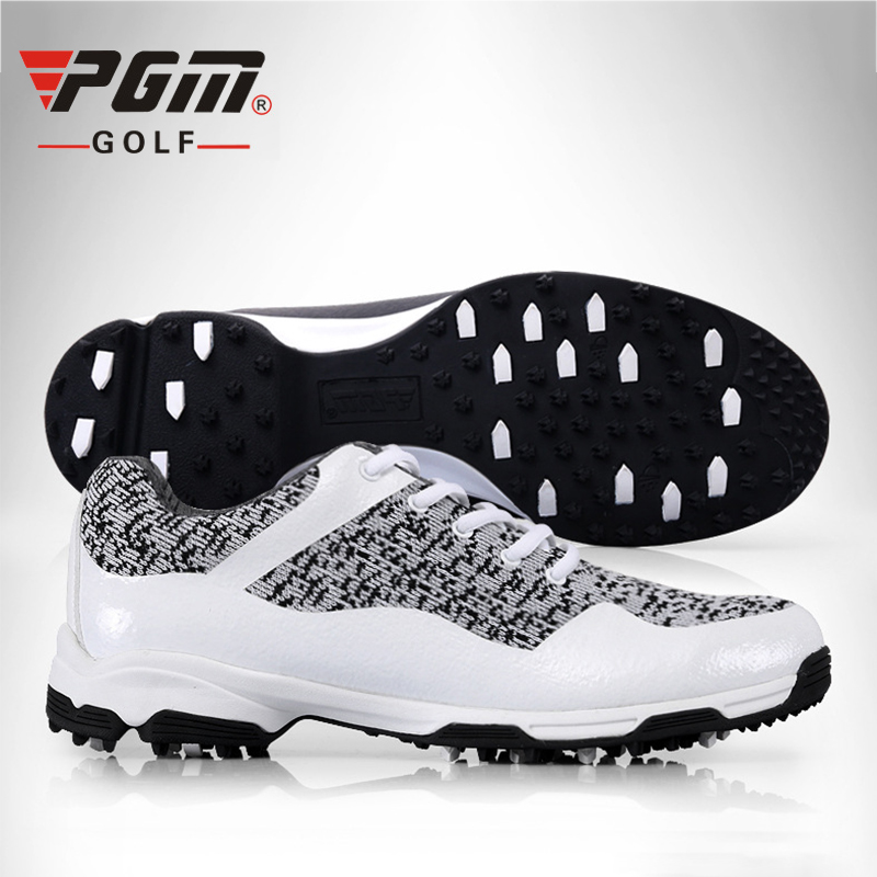 PGM Man's Golf Shoes Breathable Mesh Sneakers Brand Professional Golf Shoes For Men Anti Skid Grass Wear Sneakers Man Golf Shoes durable golf children shoes sneakers breathable anki skid soft shoes golf kids shoes outdoor sport running antiskid shoes