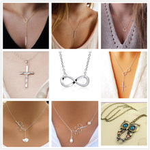 Fashion One Direction Love Heart Owl Leaves Pendant Chain Necklace For Women Bijoux Collares Jewelry Exo Colar 2018 new Girl(China)