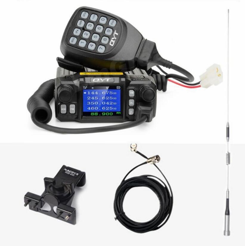 QYT KT-7900D quad band car radio transceiver 136-174MHz & 220-270MHz /350-390MHZ 400-480mhz RX TX 25w powerful mobile radioQYT KT-7900D quad band car radio transceiver 136-174MHz & 220-270MHz /350-390MHZ 400-480mhz RX TX 25w powerful mobile radio