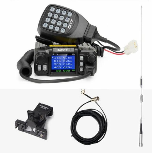 QYT KT 7900D quad band car radio transceiver 136 174MHz & 220 270MHz /350 390MHZ 400 480mhz RX TX 25w powerful mobile radio