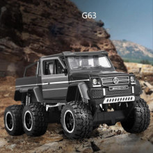 1:32 scale Hot Big wheel 6x6 Super Pickup metal model benz amg g63 diecast suv car Off-road vehicle light sound pull back toys(China)