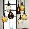 Kreative Wasser Tröpfchen Glas Loft Anhänger Lampe Beleuchtung Wohnzimmer Schlafzimmer Einfache Wohnkultur Anhänger Lichter Küche Hanglamp