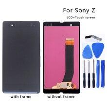 Dla Sony Xperia Z L36H LCD przetwornik cyfrowy Panel szklany zestaw do Sony Xperia Z C6603 C6602 wyświetlacz LCD Monitor darmowe narzędzie