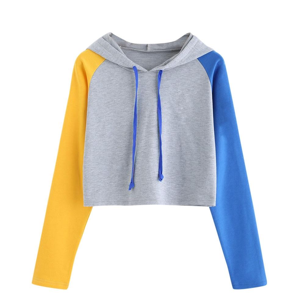 Feitong women hooded sweatshirts 2018 Autumn Womens Casual Long Sleeve Hoodie Sweatshirt Hooded Pullover Tops Blouse