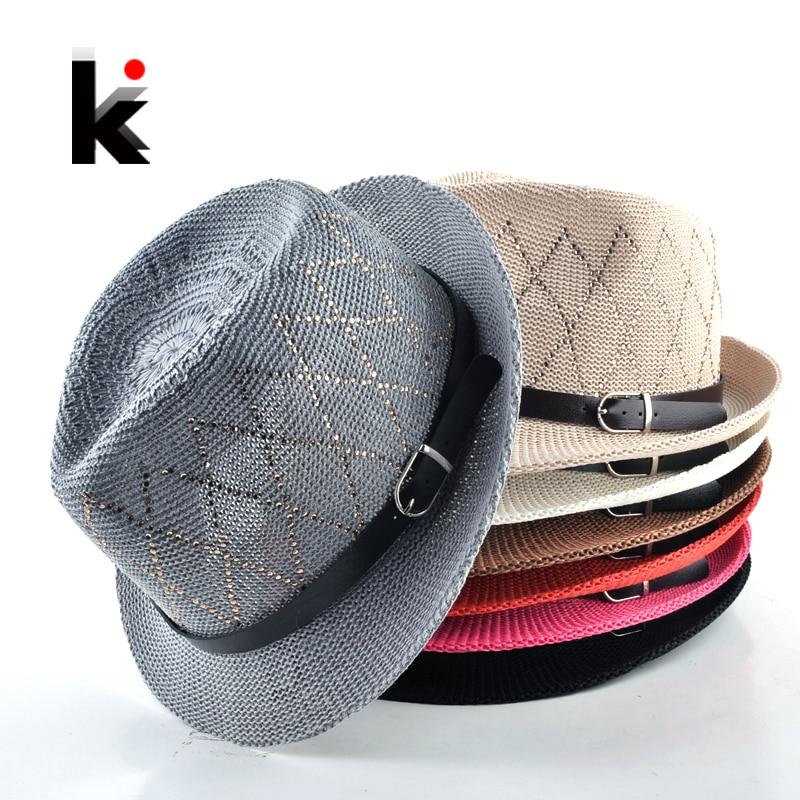 2018 Fashion hats for women Unisex Leisure cap Panama straw caps beach Breathable hat chapeu feminino sun hats for men 1
